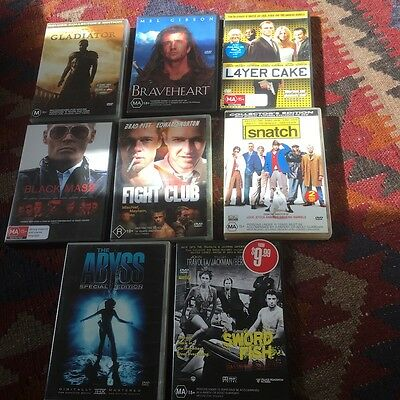 Dvd Bulk Lot 8 Movies - Mint Used Condition