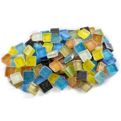 100g 10mm Square Gliter Vitreous Glass Mosaic Tiles Kitchen Art & Craft Supplies