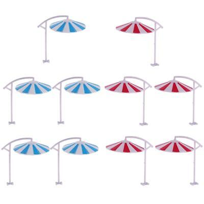 10Pcs Sun Umbrella Parasol Model 1/100 Park Railroad Scenery Decoration Toys