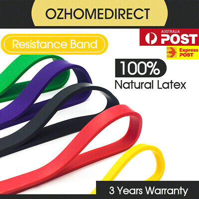 Set of 5 Heavy Duty Resistance Band Loop Power Fitness Gym Yoga Workout Exercise