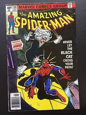 The Amazing Spider-Man #194 - 1st Appearance of Black Cat key ASM Spidey