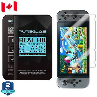 2 Pack Nintendo Switch PUREGLAS Tempered GLASS Screen Protector Retail Package