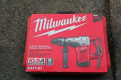 """Brand New Milwaukee 5317-21 1-9/16"""" SDS-Max Rotary Hammer in Box / Free Shipping"""