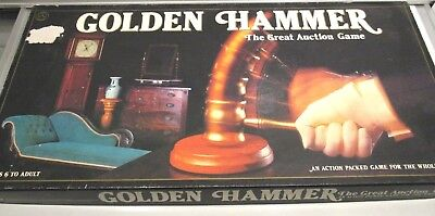 Golden Hammer The Great Auction Game. Ages 6+ 1983 Crown and Andrews.
