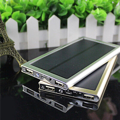 External 100000mAh Solar Power Bank Pack Portable Battery Charger Mobile Phone