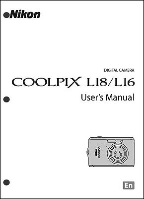 Nikon CoolPix L16 L18 Digital Camera User Guide Instruction  Manual