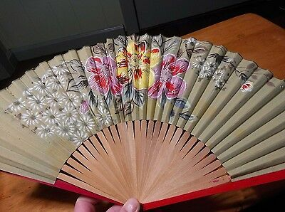 Vintage pair of Japanese fans