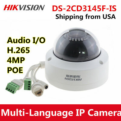 Hikvision DS-2CD3345-I HD 4MP PoE EXIR Turret Security CCTV Dome IP Camera IR30M