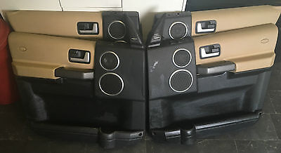 Discovery 3 Door Cards Panels Front & Rear Set Complete Alpaca Black & Switches