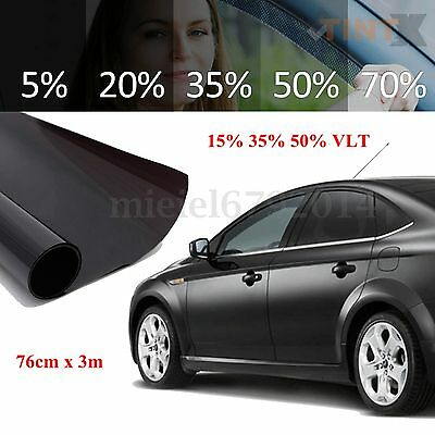 Dark Smoke 50% VLT Car Home Office Window Glass Tint Film Tinting Limo 3m x76cm