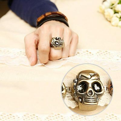 Creative Skull Adjustable Skeleton Clamshell Club Jewelry Ring Finger Watch Gift