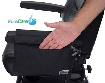 Simplantex Wheelchair Armrest Pouch Transit Self Propel Mobility Aid Black