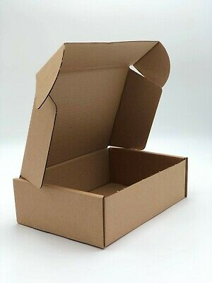 Cardboard Lidded Box Postage Postal Packaging Mail Small Parcel Gift 10 x 7 x 3""