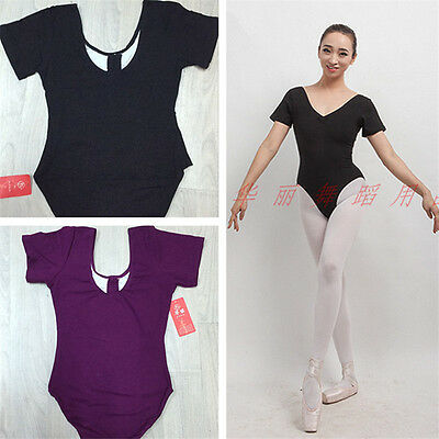 Professional Lady Or Girl  Ballet Dance Cap Sleeve Leotard