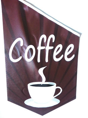 COFFEE Endsign Banner Flag complete with bracket & pole, shop advert flag COFFEE