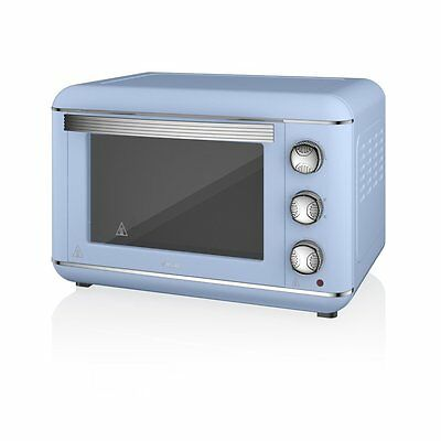 Electric Mini Oven Rotisserie Convection Kitchen Handy Stainless Blue SF37010BLN