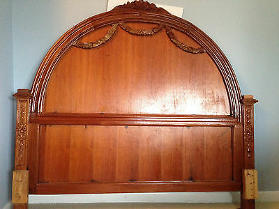 Antique cherry bed head and foot board (full)