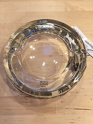 Maria Cristina Alessandro Magrino Sterling Mounted Crystal 2 Cigar Ashtray