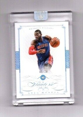 Greg Monroe 2014-15 Panini Flawless, (Diamond), 5/20 !!