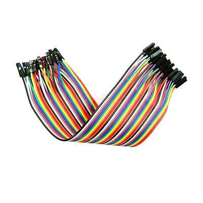 40 pieces Dupont Wire Color Jumper Cable 2.54mm 1P-1P Male to Female 20cm