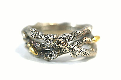 D037 DWECK DIAMONDS Fortuna triple branches Ring Sterling 925 size 9