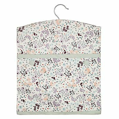 John Lewis Cotton Lilac Checked Peg Bag with Hanger - CROFT Collection