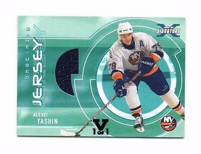 Alexei Yashin 2002-03 In The Game, Be A Player, Signature Series, 1 of 1 !!
