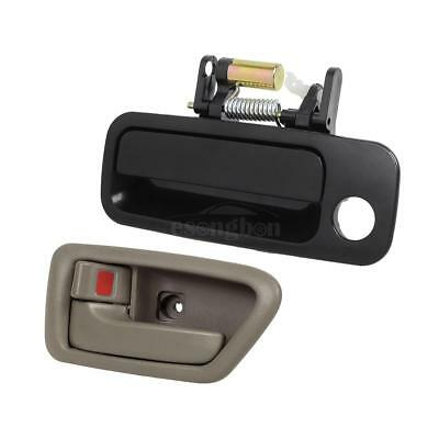 MotorKing B491 Door Handle 97-01 Toyota Camry Outside Red Ruby Pearl 3L3 Rear Left