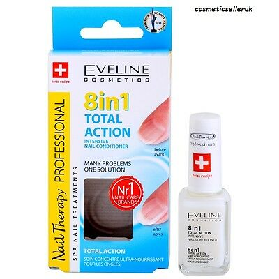 Nail Conditioners EVELINE Nail Therapy Nail 8 in1 TOP PRODUCT