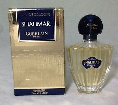 Shalimar Guerlain Paris Eau de Cologne 2.5 Fluid Ounce Spray Perfume New In Box