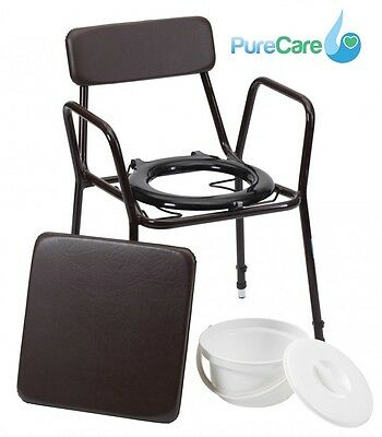 Drive Devilbiss Height Adjustable Stacking Commode Chair Toileting Seat Aid