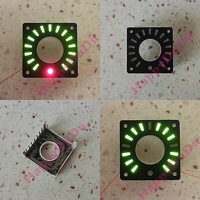 "New 1.3"" Annular LED Ring Display Green Bars & Red Dot (Rotary Encoder or Clock)"