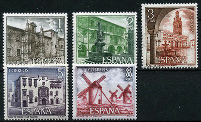 Spanish Stamps - 1973 Tourist Series Set Of 5 In Mint Condition