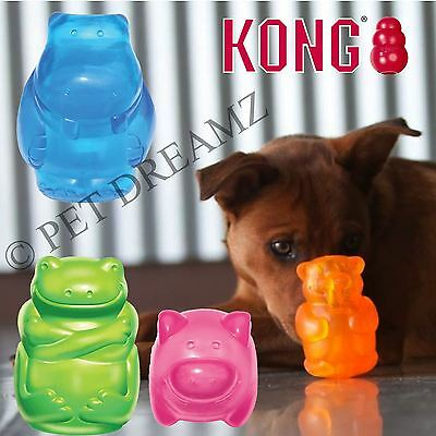 Kong Squeezz Jels Animal Shaped Squeaky Dog Toy – Bouncy Fetch Puppy