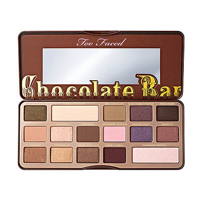16 Colors Too Faced Pro Shimmer Chocolate Bar Makeup Eyeshadow Palette Set Kit