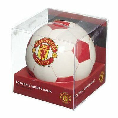 Official Manchester United Money Box Football   - Free P&p
