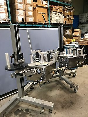 LABEL-AIRE 3114 Automatic Labeling Machine RH Side, Top, Bottom  Labeler