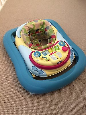 Chicco Baby Walker Lights Music Activity Play Feeding Tray Adjustable Foldable