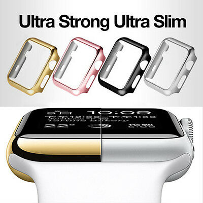 Apple Watch 1/2/3 38/42mm Full Body Cover Snap Metal Case+Screen Protector Lot Z
