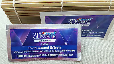 4 bandes CREST3d WITE LUXE NEUF  pour dents blanches