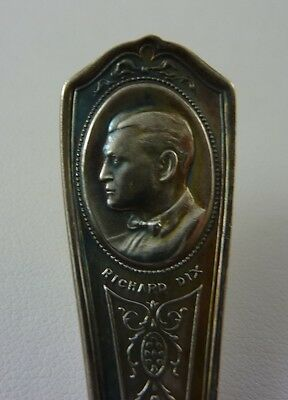 1933 Richard Dix -Silent Film Souvenir Teaspoon-SP- Chicago Worlds Fair
