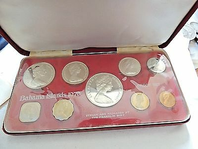 1970 Bahamas Proof Coin Set With COA & Case