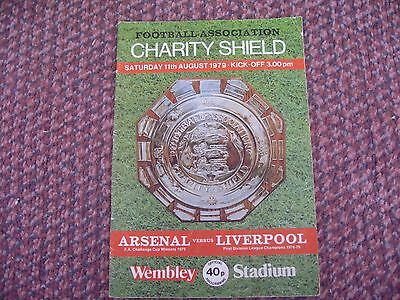 1979 Charity Shield -Arsenal v Lverpool programme