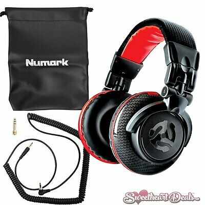 NEW Numark Red Wave Carbon 50mm Driver Professional DJ Mixing Headphones w/ Case