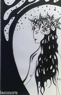 ART - INK DRAWING - TITLE: Woman Of The Woods