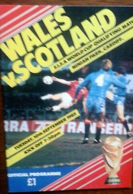 Wales V Scotland 10/9/1985 Wc Jock Stein Passed Away @ Match