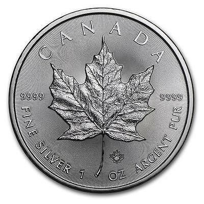 2017 CANADA MAPLE LEAF GEM BU SILVER 1oz SILVER COIN