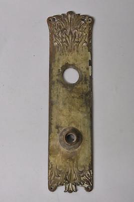 Antique Large Brass Art Nouveau Back Plate