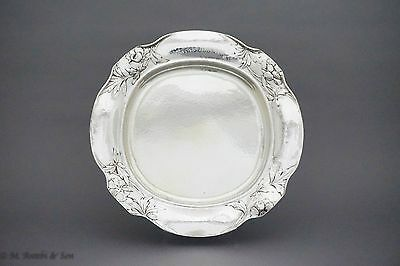 Gorham Martele Sterling Silver (.954) Hand Chased Round Tray C.1913