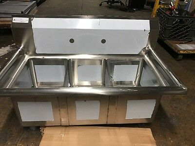 Small 3 Compartment Sink NSF